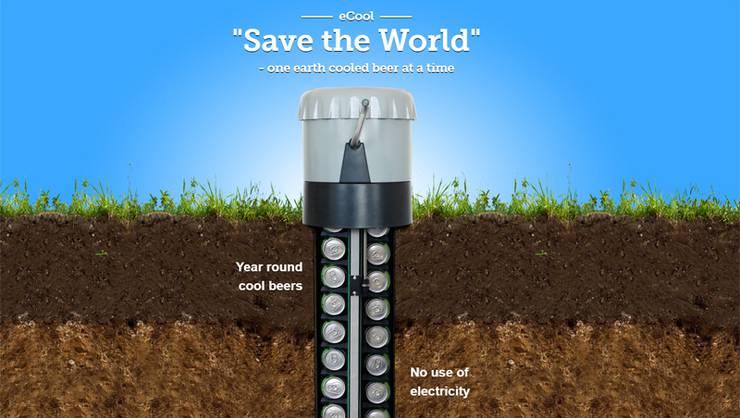 Kühlschrank Im Boden : Ecool stromlos gekühlte bierdosen aus dem boden kurbeln förderland
