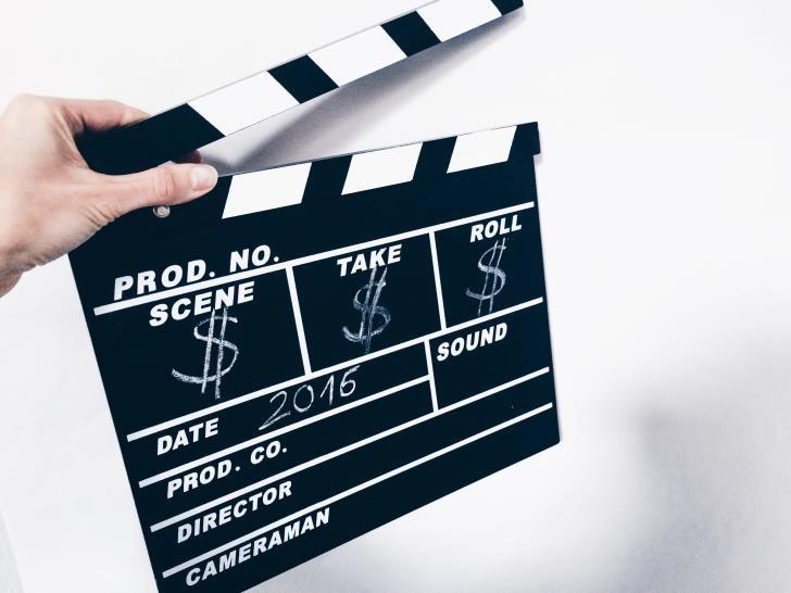 Filmklappe Hand