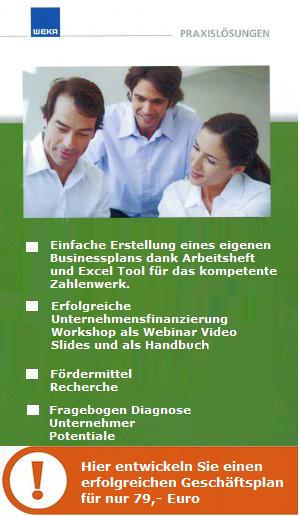 Businessplan zu Unternehmensfinanzierung