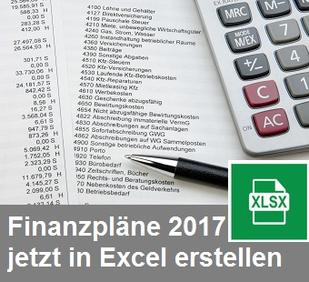 Finanzplanung 2017 in Excel