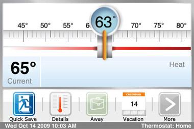 ecobee smart thermometer das iphone kontrolliert die heizung foerderland. Black Bedroom Furniture Sets. Home Design Ideas
