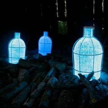 Trap light energiesparende lichtfalle aus murano glas for Lampen namen