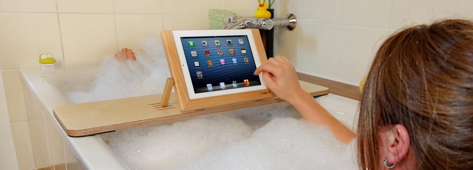 tublet tablet halter f r die badewanne foerderland. Black Bedroom Furniture Sets. Home Design Ideas