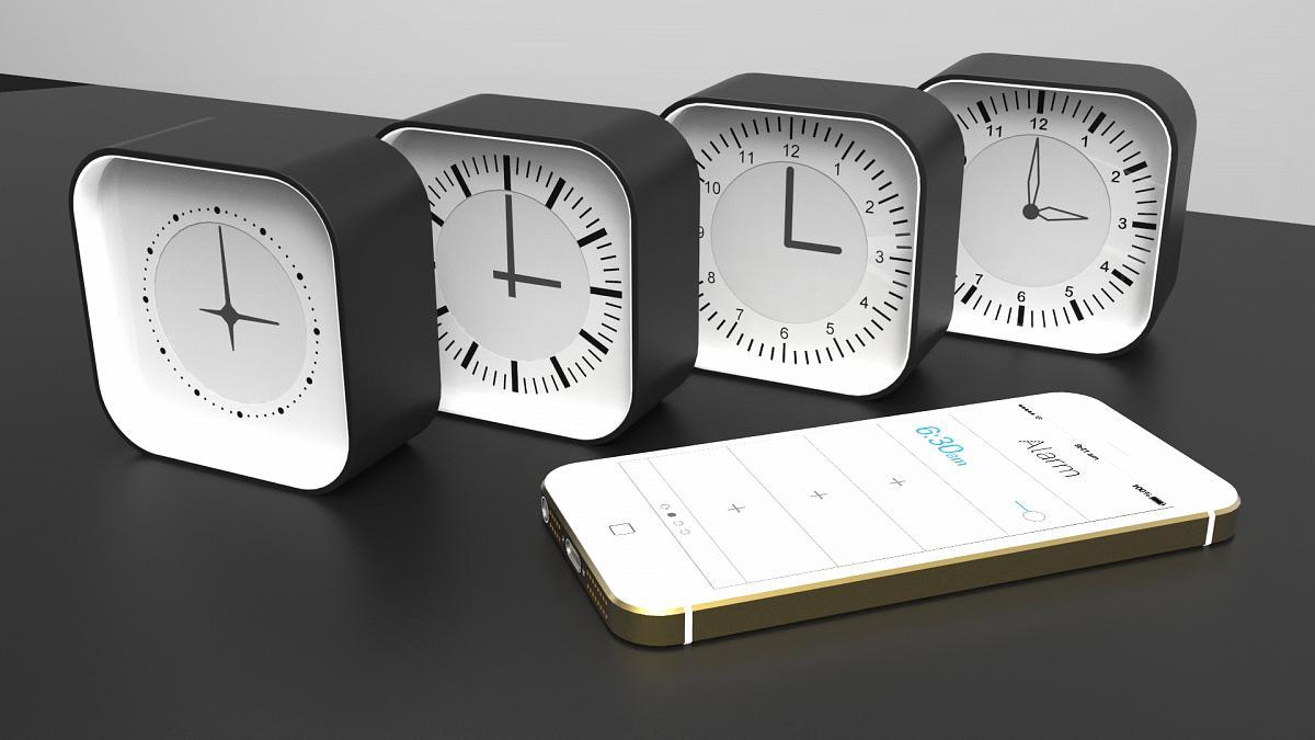 Moderner Wecker aclock moderner wecker mit app steuerung kann sein gesicht