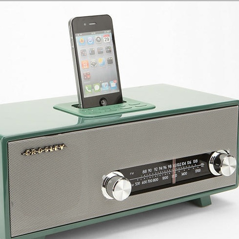 stereoluxe retro radio mit dockingstation stilvolle docking station f r iphone und ipod f rderland. Black Bedroom Furniture Sets. Home Design Ideas