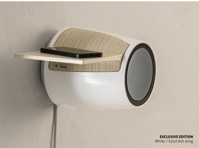 db60 lautsprecher gefl gelter bluetooth lautsprecher als wandschmuck foerderland. Black Bedroom Furniture Sets. Home Design Ideas