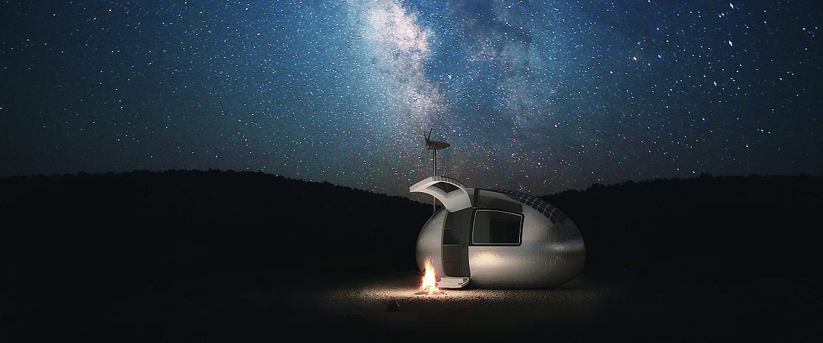 die ecocapsule erm glicht autarkes leben auf kleinstem raum foerderland. Black Bedroom Furniture Sets. Home Design Ideas