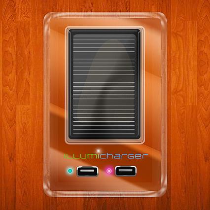 illumicharger wandsteckdose l dt gadgets mit solarstrom. Black Bedroom Furniture Sets. Home Design Ideas