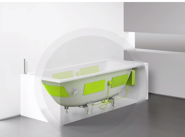 kaldewei soundwave die badewanne als bluetooth lautsprecher foerderland. Black Bedroom Furniture Sets. Home Design Ideas