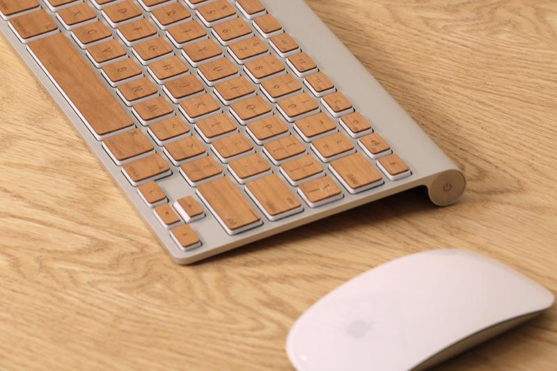 lazerwood tastaturaufkleber f r apple tastaturen holz trifft alu foerderland. Black Bedroom Furniture Sets. Home Design Ideas