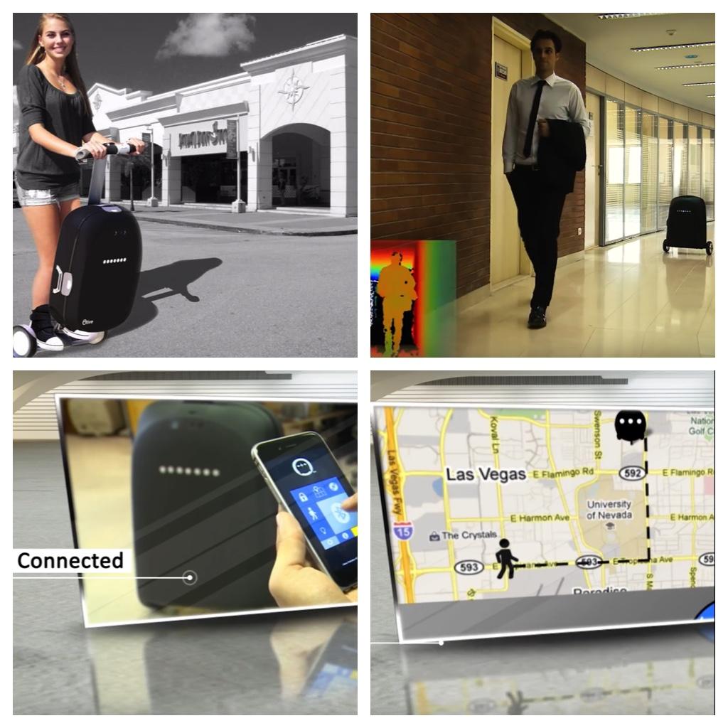 olive der intelligente roboter koffer soll das reisen. Black Bedroom Furniture Sets. Home Design Ideas