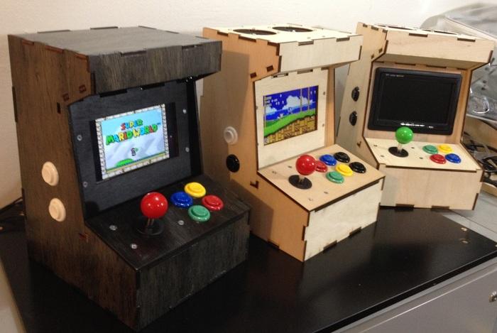 Basteldings Miniatur Arcade Automat Mit Raspberry Pi