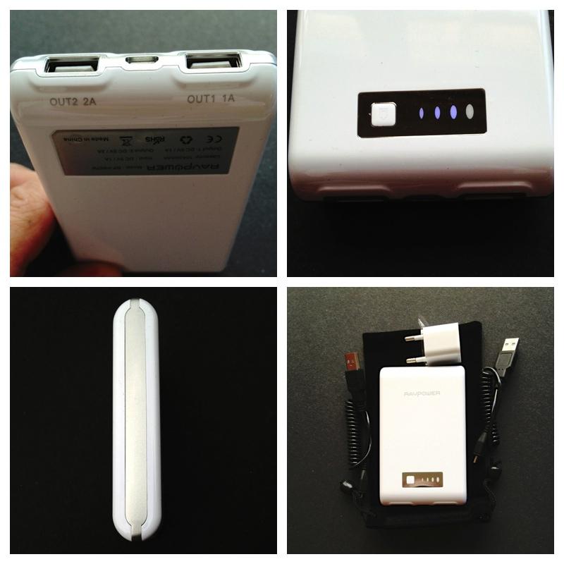 ravpower 10400 mah pb07 power bank kompakter. Black Bedroom Furniture Sets. Home Design Ideas