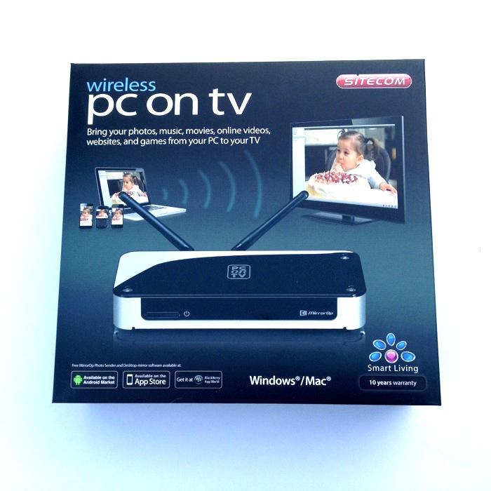 sitecom pc on tv im test rechner bildschirm aufs tv. Black Bedroom Furniture Sets. Home Design Ideas