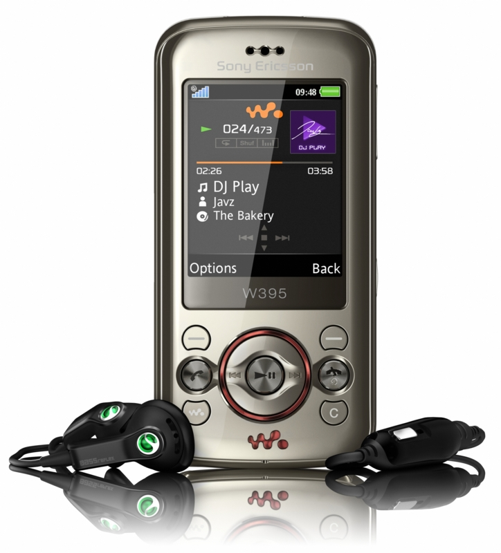 Sony Ericsson W395: Walkman Telefon: förderland
