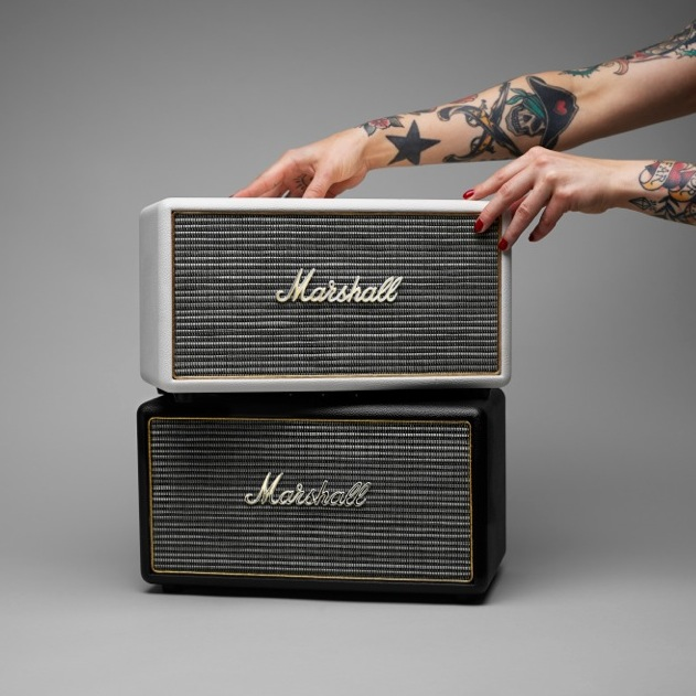 marshall stanmore aktiver stereo lautsprecher im vintage look f rderland. Black Bedroom Furniture Sets. Home Design Ideas