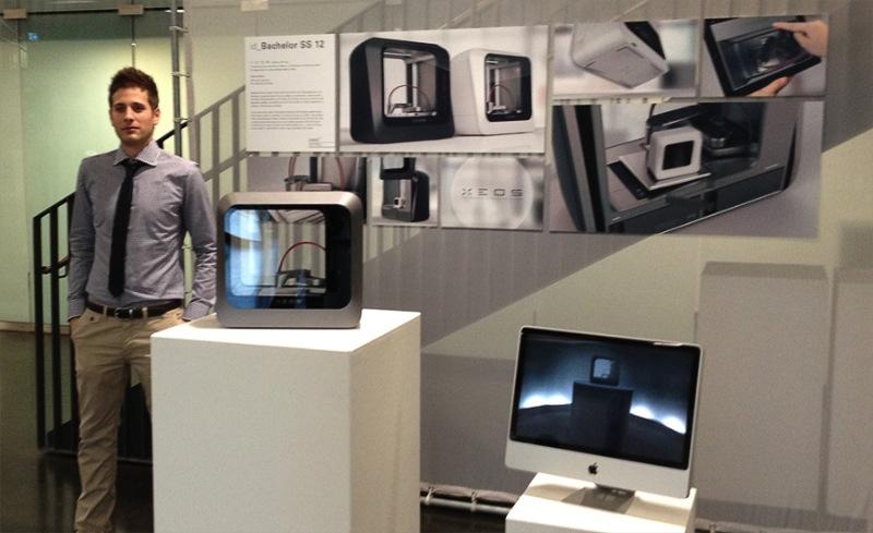 xeos 3d stylischer 3d drucker entworfen von deutschem. Black Bedroom Furniture Sets. Home Design Ideas