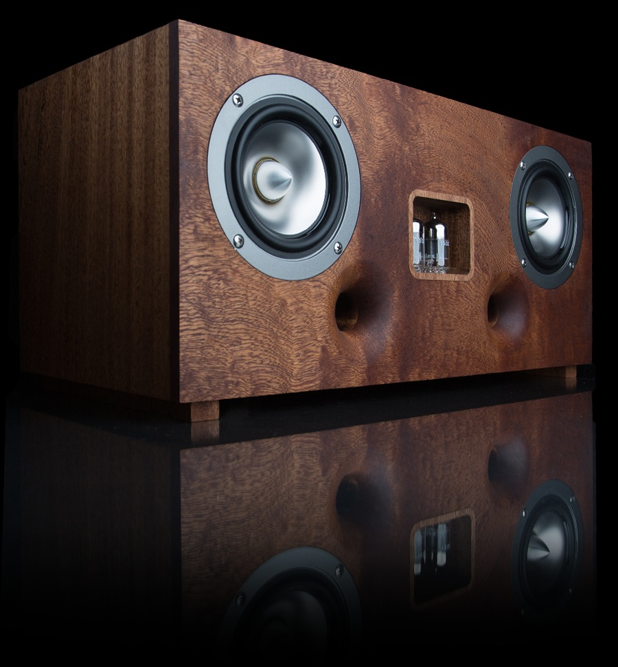 tubecore duo kabelloser lautsprecher mit r hren herz und. Black Bedroom Furniture Sets. Home Design Ideas