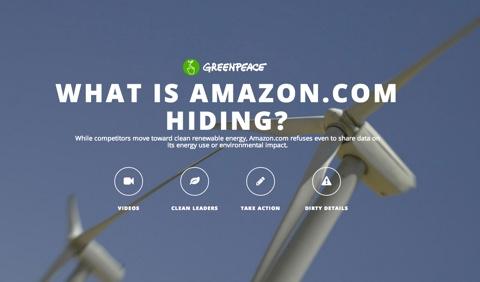 Übers Web versucht Greenpeace Druck auszuüben.