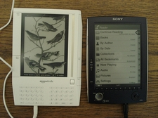 Amazon Kindle, Sony eBook, Holz