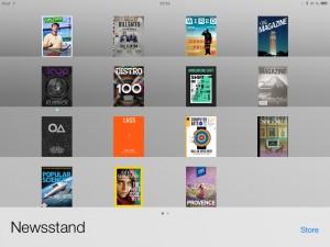 In Apples Modell sind Magazine spezielle Apps in einem eigenen Ordner.