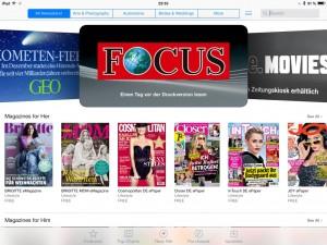Bei Apple sind Magazine eine Rubrik des App Stores.