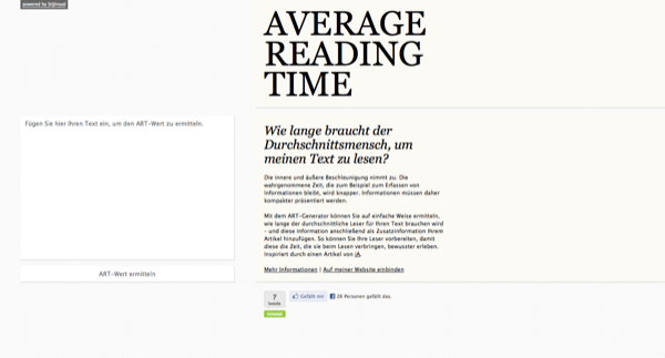 Average Reading Time
