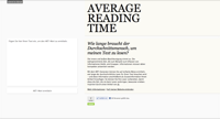 Average Reading Time Generator