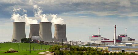 Umstrittenes Atomkraftwerk Temelin in Tschechien: Deppentheater im medialen Raum? (Bild Keystone/CTK, David Veis)