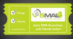 5mal4-Aufkleber, nach dem Konsumenten in Köln und Wiesbaden ausschau halten können