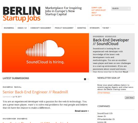 berlin startup jobs die hauptstadt bekommt einen jobmarktplatz f r startups foerderland. Black Bedroom Furniture Sets. Home Design Ideas