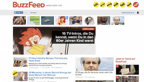 Listicle- und WTF-Portal BuzzFeed: Seit einer Woche auch auf Deutsch