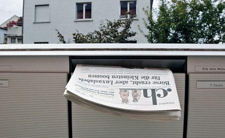 Hauszustellung von .ch: Schon abgeschrieben? (Keystone)