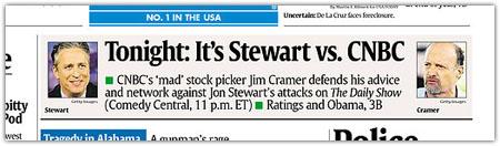 Mediengeschichte auf der ersten Seite der USA Today (Screenshot)