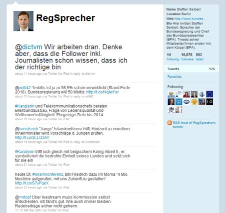 Dialog bei Twitter