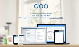Doo verkündet auf der eigenen Website das Ende der Dokumenten-App.