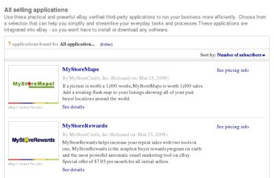 eBay Selling Manager Applications