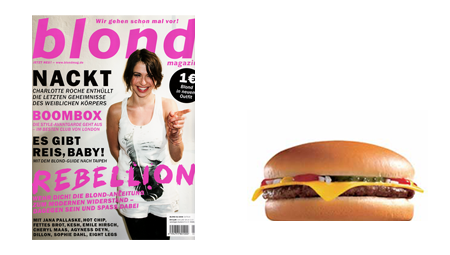Blond Mag & Cheeseburger
