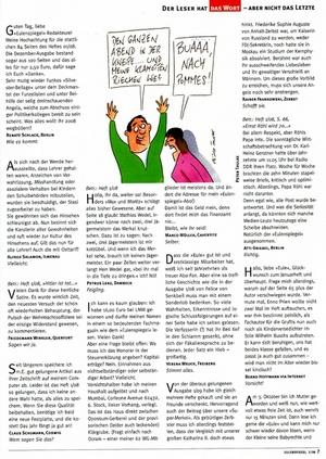 Eulenspiegel 2/08 Leserbriefe