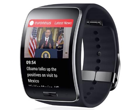 EuroNews-App auf einer Samsung Gear S