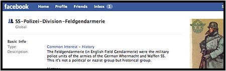 Nazi-Müll auf Facebook (Screenshot)