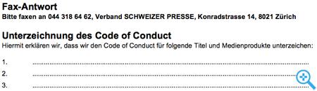 Fax Verband Schweizer Presse