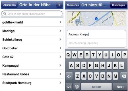 Facebook-Orte