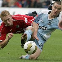 Autsch: Gladbach gegen Hannover 96 (Keystone)