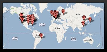 Google-Rechenzentren weltweit, Quelle: Royal Pingdom