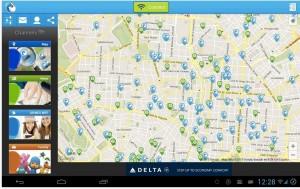 Gowex-Karte mit offenen Hotspots