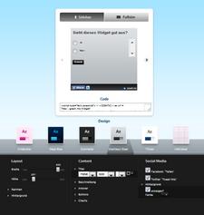 Widget-Konfigurator (zum Vergrößern klicken)