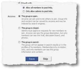 Facebook Groups: Geschlossene- und Geheimgesellschaft