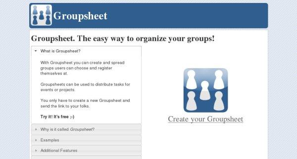 groupsheet