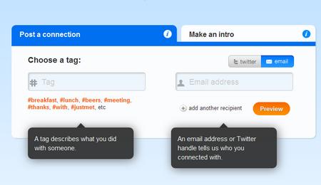Ein Hashtag, eine Mailadresse oder ein Twitter-Handle, und fertig ist der Eintrag bei Hashable.